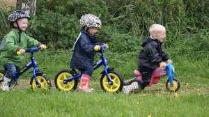 3 små cyklister