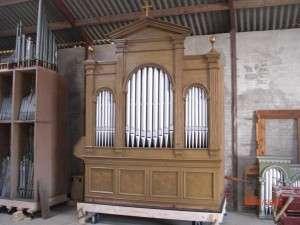 Roerslev Margaard orglet samlet og på plads i maskinhuset