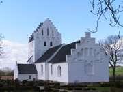 Asperup  kirke  forår, redigeret
