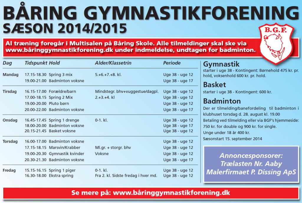 BGF-gynmastik 2014-15
