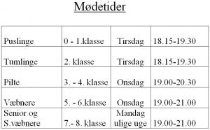FDF moedetider 2014-15